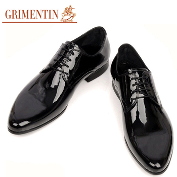 New Handmade Mens Dress Italian Shoes Patent Leather Lace -up Black Brown Autumn Designer Formal Men Flats Size38-44 OX21
