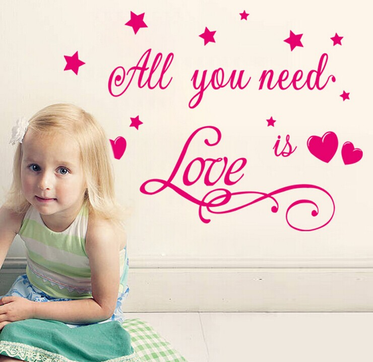 Need Love Quote Wall Decal Sticker Creative Proverb Saying Removable Vinyl Mural Art Nursery Kids Room Decoration - Madegiftforyou Factory Store store