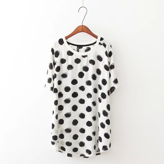 Free Shipping Short Sleeve Shirt Women Chiffon Blouse
