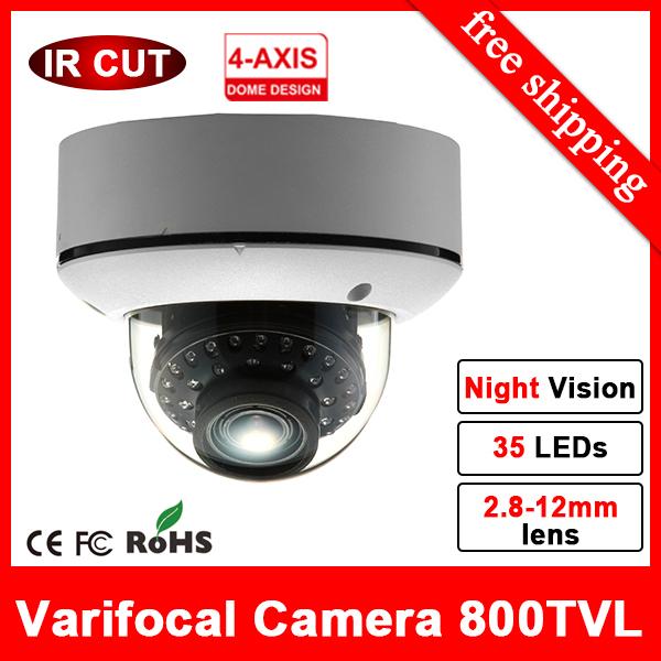 Zoom Day Night vision thermal CCTV Camera indoor outdoot eyeball 960H HD Analog Camera with 35 IR Cut inbuilt video camera cctv(China (Mainland))