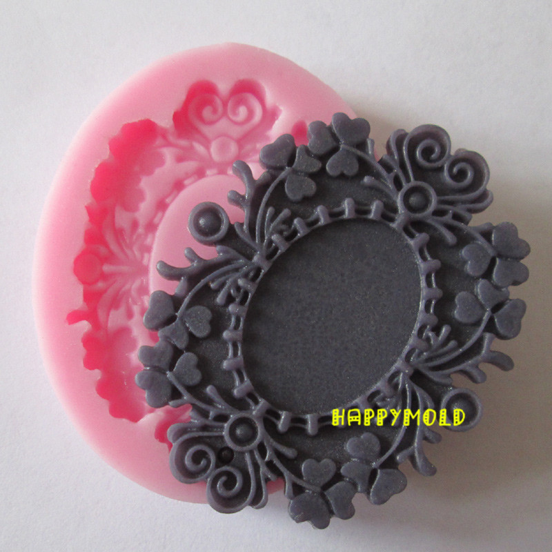 Single Bronze mirrors resin molds fondant mold,silicone ...
