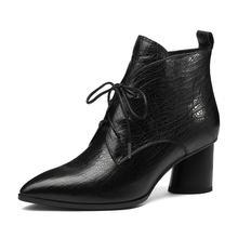 QUTAA 2020 Kadın yarım çizmeler Platformu Fermuar Moda Koyun Cilt Tüm Maç Kış Boos Kadın Ayakkabı Kadın Çizmeler Büyük Boy 34 -42(China)