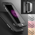New Hybrid 360 All round Matte Anti knock PC Hard Case Tempered Glass Cover For iPhone
