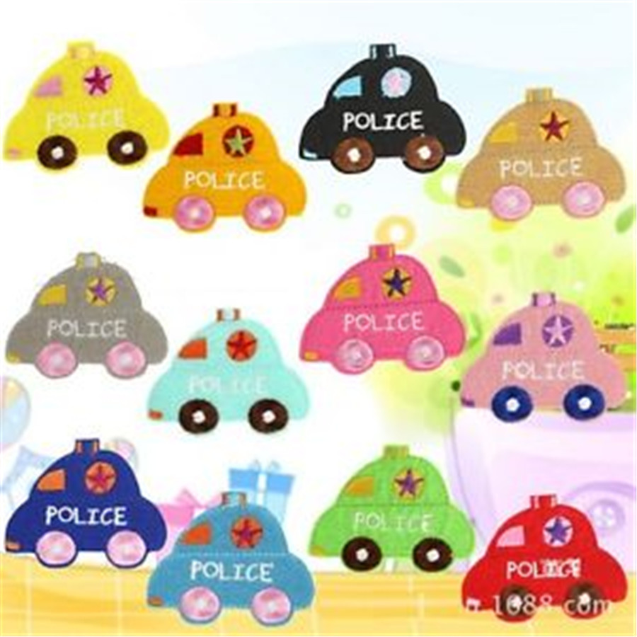 FD4056 new Police Cars Embroidery Cloth Iron On Patch Sewing Motif Applique 12pcs(China (Mainland))