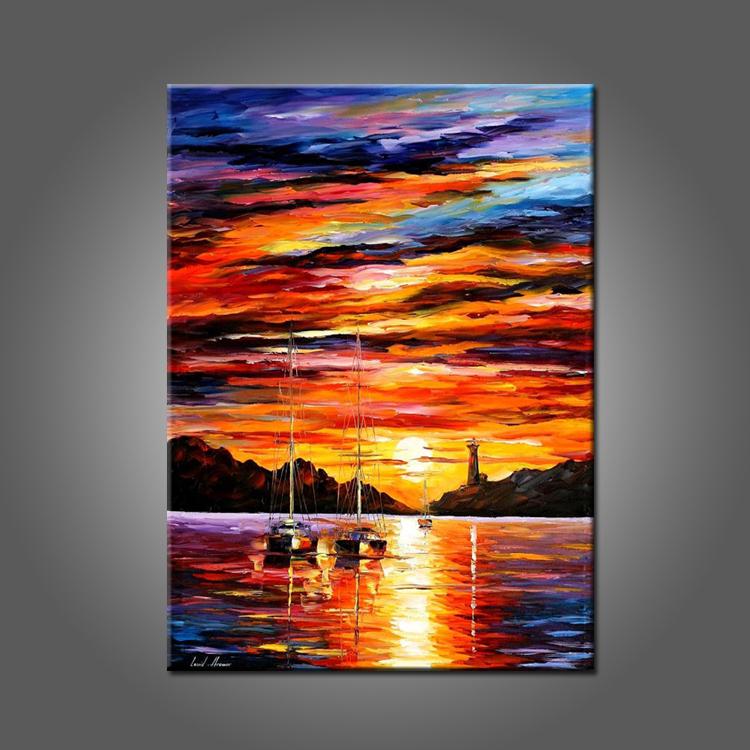 Suset landscape oil painting on canvas beautiful sunrise for Artworks landscape ltd