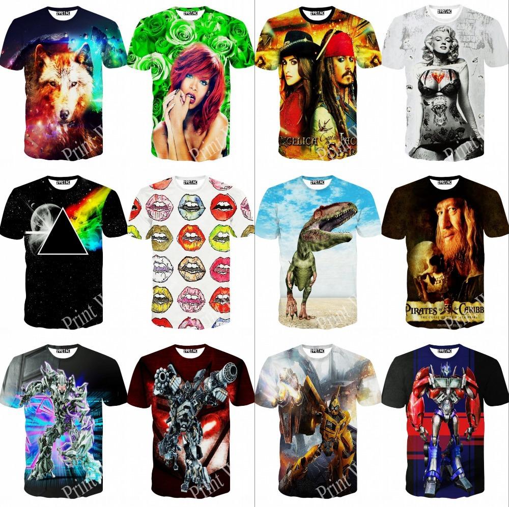 Женская футболка 3d 2015 t tshirt blusas femininas t 3D print женская футболка waqia 2015 t cueca blusas femininas 4
