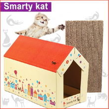 DIY Cat House with Scratching Pad