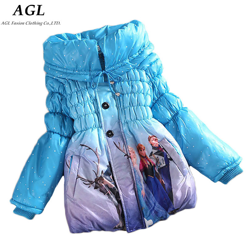 New Winter Kids Girls Coat Warm Long Sleeve Padded Girl Children Outwear Clotning Cute Cotton Baby Gilrs Hoddies Jackets Coat(China (Mainland))