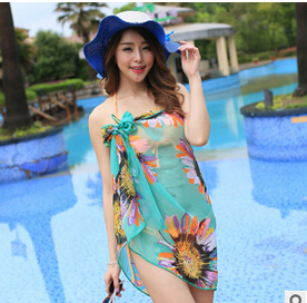 The summer holiday beach towel Bikini Swimsuit Large Wrap Dress Chiffon Scarf sling beach sunscreen(China (Mainland))