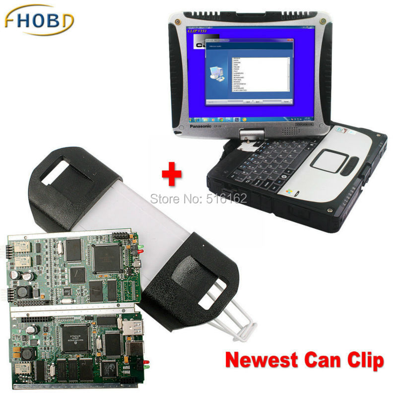 V156 RENAULT CAN CLIP Full Chip Diagnostic Tool Software Install Well on Panasonic Toughbook CF-19 Laptop(China (Mainland))