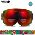 2015High End Snowmobile Goggles Double Layer Large Spherical Ski Goggles compatible 100 UV Protection Anti Fog
