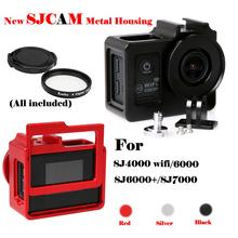 2016 Newest camera accessories alloy cage cover metal frame + UV filter sj4000 sjcam + wireless / sj6000 / sj7000(China (Mainland))