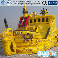 Free Shipping By Sea Commercial Use Inflatable Ship Bounce House Castle With Slide(China (Mainland))