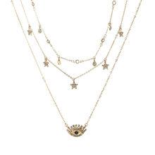 Vòng Cổ ngôi sao Nữ Choker Kolye Vàng Bạc Mặt Trăng Cổ Boho Mặt Dây Chuyền Collier Femme Phối Xích collares de Moda 2019 G2(China)