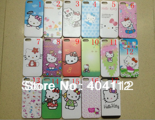 Free shipping !!hello kitty cartoon Series On sale cover for iphone5g, Cheap hello kitty case for Iphone 5 5S