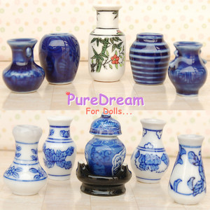 Wholesale 1 12 Dollhouse Furniture Displays Porcelain Vase