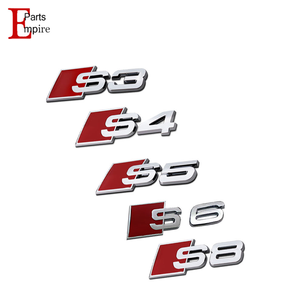 Car Styling For Audi A3 A4 A5 A6 A8 3D Aluminum Alloy S3 S4 S5 S6 S8 S Line Car Tail Emblem Metal Rear Tail Badge Sticker Logo(China (Mainland))
