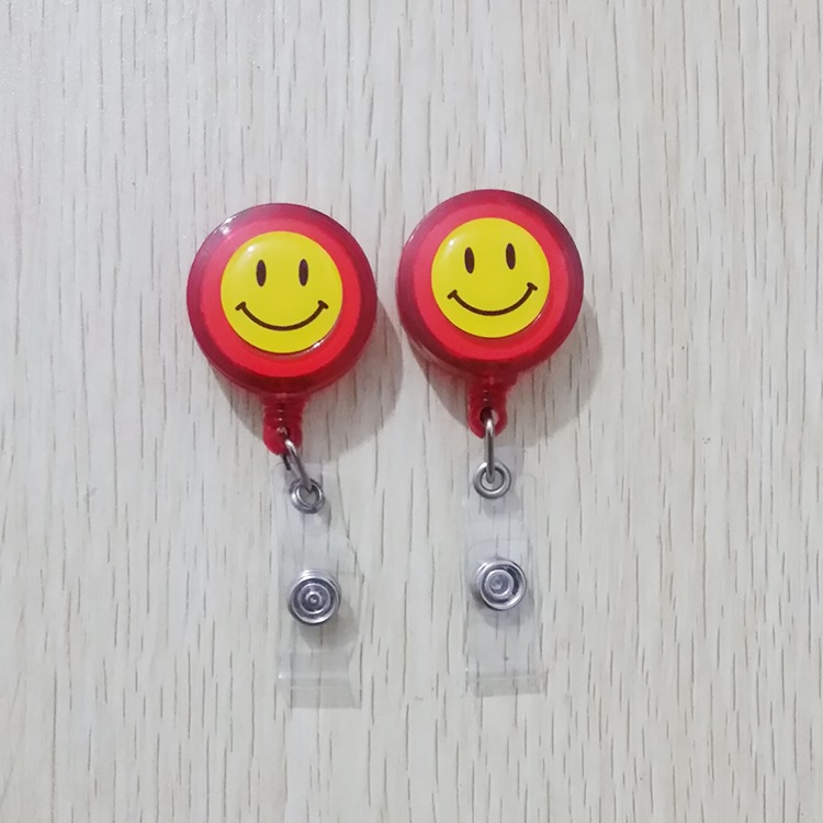 Red 1pcs Retractable Reel With Anti-Lost Clip Buckle Security Nurse ID Name Card Badge Holder Reels(China (Mainland))