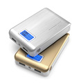DCAE New Mobile Power Bank 12000 mAH Dual USB Portable Phone Charger LCD external battery powerbank