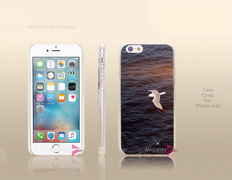 mt16 seagull bird sea ocean animal nature flare Hard Transparent Clear Case Cover for apple iphone 4 4s 5 5s 5c se 6 6s plus(China (Mainland))