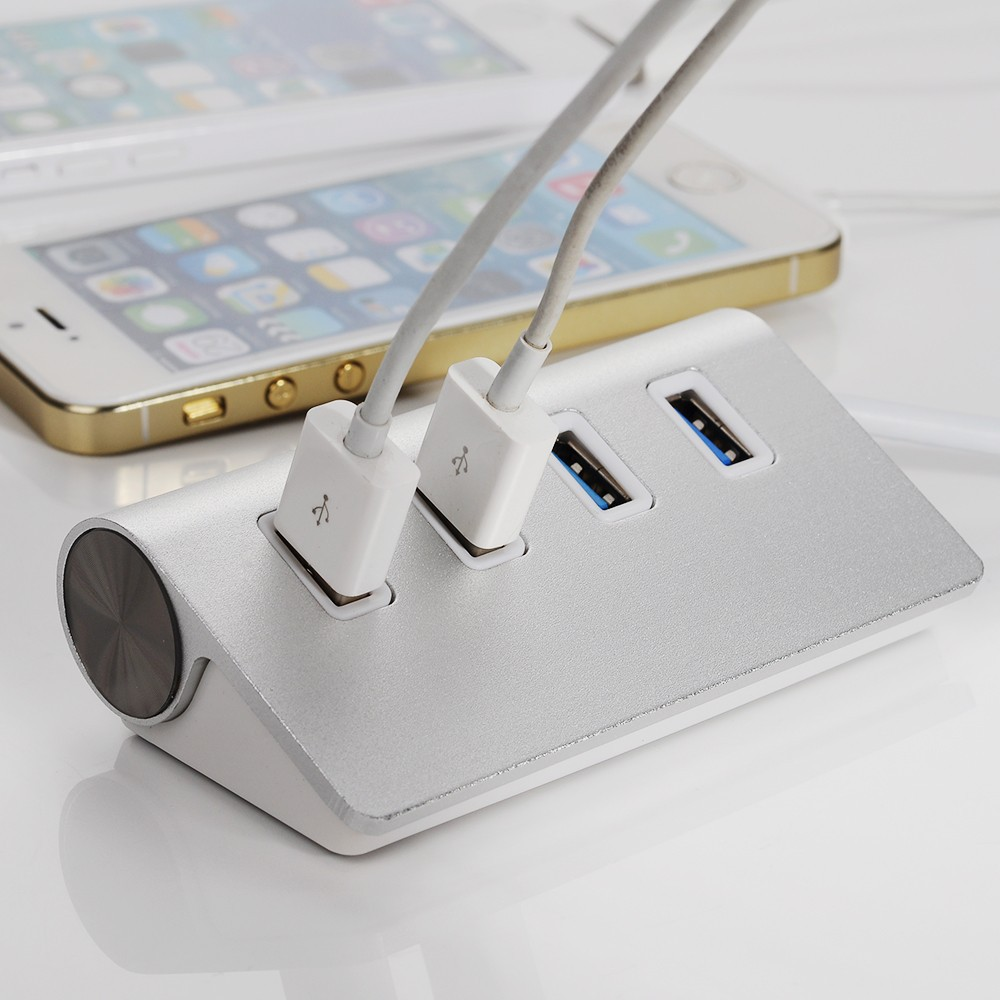 High Speed 4 Ports USB 3.0 Hub Portable Aluminum Hub USB Splitter New for Apple Macbook Air PC Laptop (No External Power Supply)(China (Mainland))