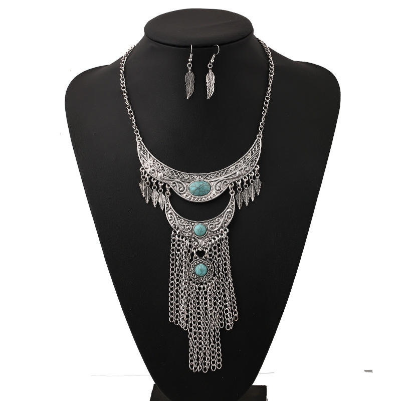 2016 new fashion bohemian Statement necklace tassel collar choker necklace vintage gypsy ethnic Maxi necklace women fine Jewelry(China (Mainland))