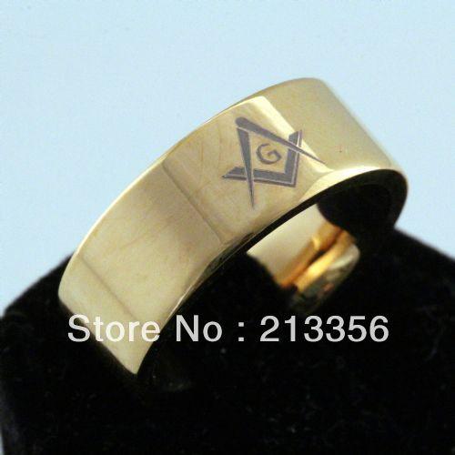 Free Shipping Buy Cheap Price Discount Jewel USA HOT Selling 8MM Men&Womens 18K Golden Pipe Masonic New Tungsten Wedding Rings(China (Mainland))