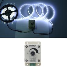 1 CH sortie LED Dimmer Controller 12 - 24 V couleur unique réglage de la luminosité pour 5050 3528 LED Light Strip(China (Mainland))