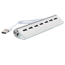 7 Ports USB 2.0 Hub For Apple Mac PC Laptop Computer Peripherals Accessories