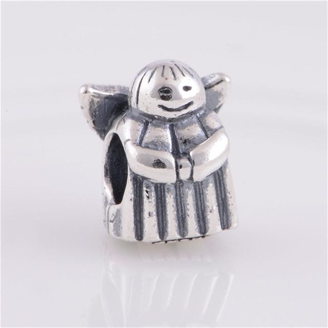 Подходит пандора браслет 925 серебряные ювелирные изделия бусины ангел надежды шаблон европейских подвески DIY мода ювелирных изделий