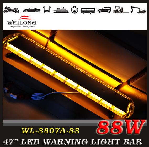 """46.5"""" 88 LED 12V -24V 120CM Emergency Recovery LightBar Wrecker Flashing LightBar Beacon Strobe Light Bar Amber(China (Mainland))"""
