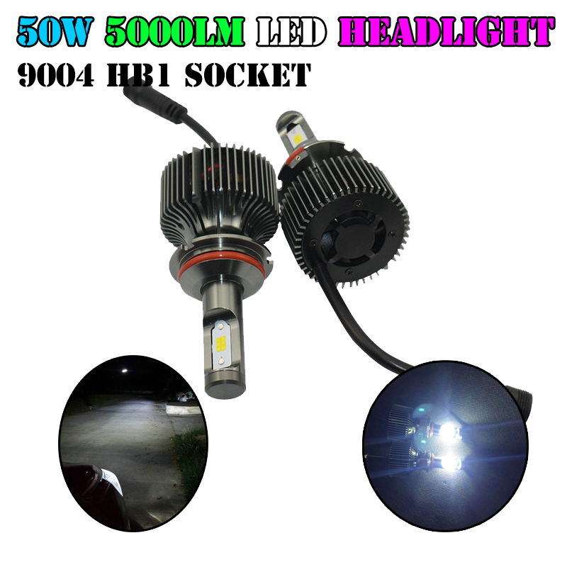 Фотография 1Set Newest Design HB1 9004 Led Headlight Kit 6000K 10000Lm Super White Fog Headlamp Bulbs For 9004 HB1 Auto Car Motorcycle 12V