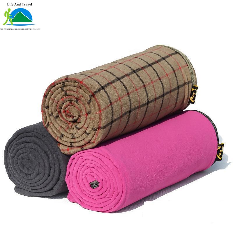 New Outdoor Camping Envelope Style Adult Fleece Sleeping Bag Dark gray / Rose Red / Coffee Three Optional(China (Mainland))