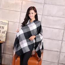 Za Brand Winter Scarf 2015 New Design Plaid Scarf cuadros Unisex Acrylic Basic Shawls Women's big size Scarves(China (Mainland))