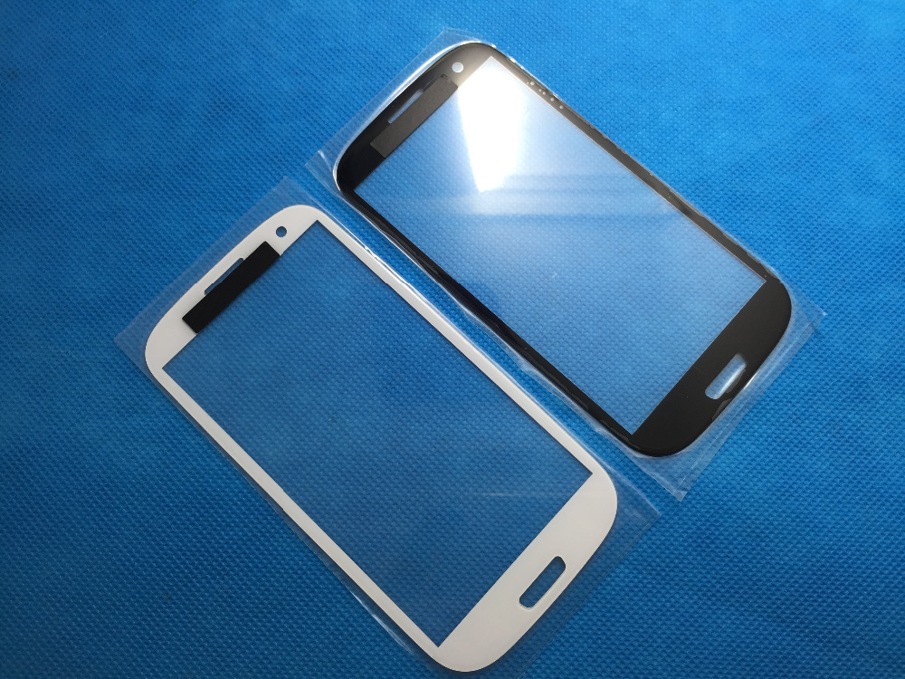 Replacement LCD Front Touch Screen Glass Outer Lens for Samsung Galaxy S3 i9300 Black/White 100 pcs/lot Free Shipping(China (Mainland))