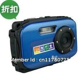 """2013 New High Quality Waterproof Digital Camera B168 9.0 MP 2.7"""" TFT screen 8x Zoom 10 Meters Underwater Digital Vedio Camera"""