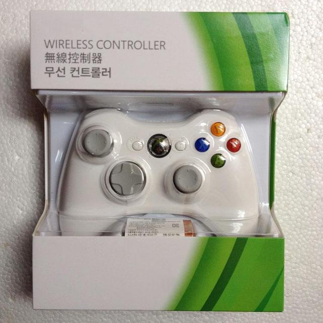 for XBox 360 gamepad Wireless Controller wireless Joypad black& white, Wholesale with retail packing free shipping