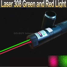 Laser pen 2 in 1 two-color red and green star 200mw laser pointer 308 + 18650 Battery 4000mah + Charger(China (Mainland))
