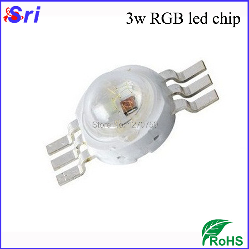 10pcs/lot 3w RGB LED Diodes 4 pin/6 pin High Power LED Light Source With 3 Years Warranty Freeshipping(China (Mainland))