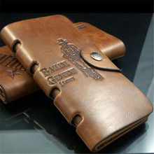 Hot men's long paragraph leather wallet men's new casual antique wallet card package factory direct free shipping N673(China (Mainland))