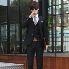 Brands BONSPOL Men's occupation suits business casual suit new wedding tide interview High Quality Luxury Celebrities suit(China (Mainland))