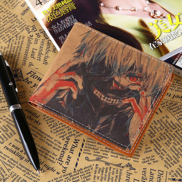Men Wallet Japanese anime One Piece Stylish Leather Japan Wallets credit Card Holder Coin Purse Bleach