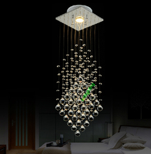 linear crystal Suspension contemporary pendant lamp Restaurant hotel project lamps commercial pendant lights Fluorescent Light(China (Mainland))