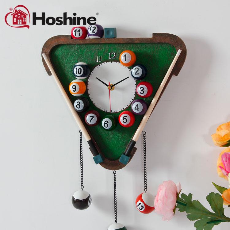 Hoshine Brand Novelty Fashion Design Billiard Silence Decor Wall Clocks Art Deco Clock Home Decoration - Co.,Ltd. store