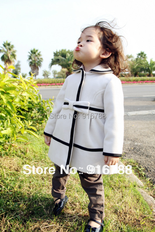 Girls butterfly cross fashion princess wool jackets autumn winter outdoor coats brand name fre shipping - Number2 store