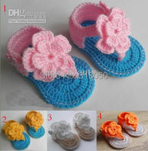 10%off!4 Styles crochet baby sandals sale! girl toddler shoes for summer,hot cotton kids shoes,cheap shoes,baby wear,china shoe.(China (Mainland))