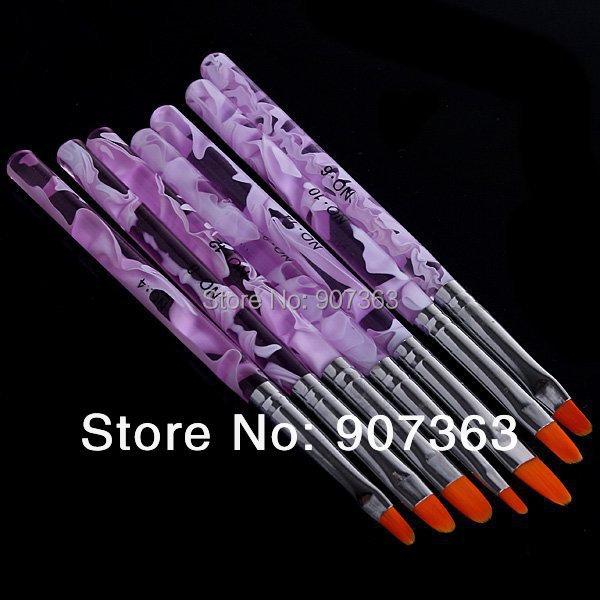 Acrylic 1 UV Gel Nail Art Painting Drawing Brush Nails Polish Set & Kits - Beauty Trading store
