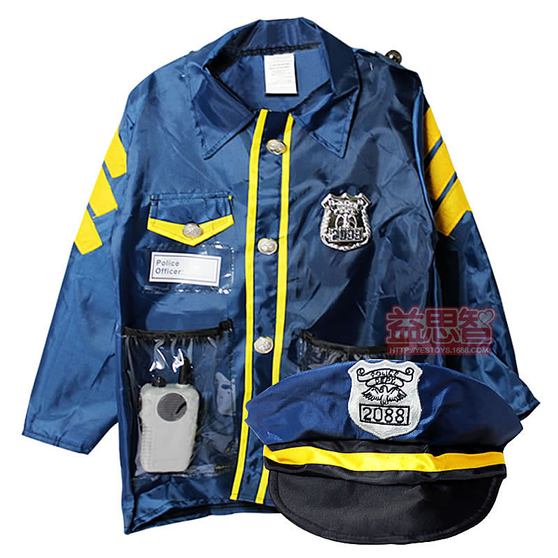 The Police Traffic Police Clothing Costumes Children Children Children Play Theatrical Costumes Occupation Work Clothes gift