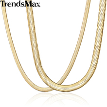 Buy Trendsmax Herringbone Snake Chain Gold Filled Necklace High Mens Womens Fashion Jewelry GNM38 for $5.57 in AliExpress store