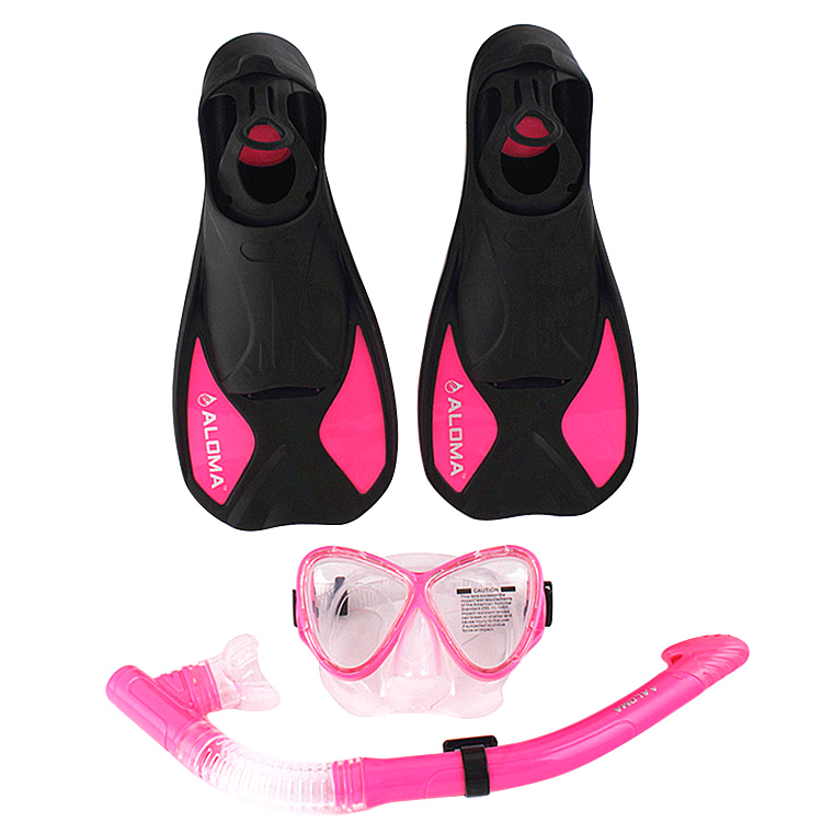 New High Quality Panoramic Purge Dive Mask Dry Snorkel Fins Breathing Tube Combo Snorkeling Set(China (Mainland))